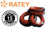 Ratey Одножильный нагревательный кабель Ratey 0,44 (2,2-2,9 м2)