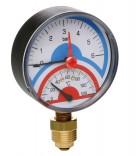 Термоманометр радиальный  ICMA 91258AD10120 (диаметр 63 мм.)