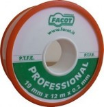 Master Уплотнительная лента тефлоновая Facot Professional 19 мм х 12 м (0,2мм)