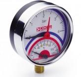 Термоманометр радиальный KM.821R (0-4 бар)