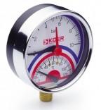 Термоманометр радиальный KM.821R (0-10 бар)