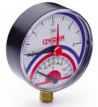 Термоманометр радиальный KM.801R (0-4 бар)