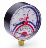 Термоманометр радиальный KM.801R (0-6 бар)