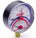 Термоманометр радиальный KM.801R (0-10 бар)