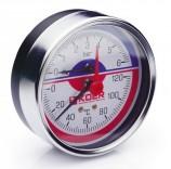 Термоманометр аксиальный KM.812A (0-6 бар)
