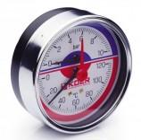 Термоманометр аксиальный KM.812A (0-10 бар)