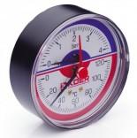 Термоманометр аксиальный KM.802A (0-4 бар)
