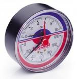 Термоманометр аксиальный KM.802A (0-10 бар)