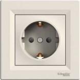 Schneider Electric Розетка Schneider Asfora с з/к кремовая + шторка (EPH2900223)