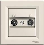 Розетка Schneider Asfora TV-R проходная 4 dB кремовая (EPH3300223)