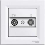 Розетка Schneider Asfora TV-R проходная 8 dB белая (EPH3300321)