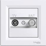 Розетка Schneider Asfora TV-SAT проходная (4 dB) белая (EPH3400221)