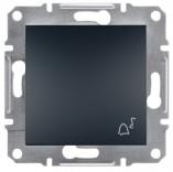 """Schneider Electric Выключатель кнопочный симв. """"Звонок"""" Schneider Asfora Plus антрацит (EPH0800171)"""
