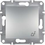 """Schneider Electric Выключатель кнопочный симв. """"Звонок"""" Schneider Asfora Plus алюминий (EPH0800161)"""