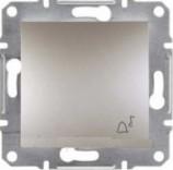 "Schneider Electric Выключатель кнопочный симв. ""Звонок"" Schneider Asfora Plus бронза (EPH0800169)"