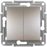 Выключатель двухклавишный Schneider Asfora Plus бронза (EPH0300169)