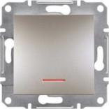 Schneider Electric Выключатель одноклавишный с подсветкой Schneider Asfora Plus бронза (EPH1400169)