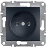 Schneider Electric Розетка без з/к Schneider Asfora Plus антрацит (EPH3000171)