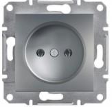 Schneider Electric Розетка без з/к Schneider Asfora Plus сталь (EPH3000162)