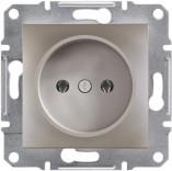 Schneider Electric Розетка без з/к Schneider Asfora Plus бронза (EPH3000169)