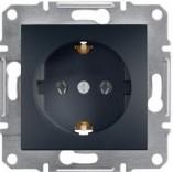 Розетка с з/к Schneider Asfora Plus антрацит (EPH2900171)
