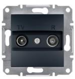Розетка проходная TV-R (8 dB) Schneider Asfora Plus антрацит (EPH3300371)