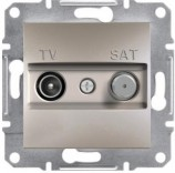 Розетка конечная TV-SAT (1 dB) Schneider Asfora Plus бронза (EPH3400169)