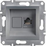 Розетка компьютерная RJ45 STP 5e Schneider Asfora Plus сталь (EPH5000162)