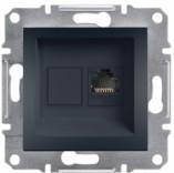 Розетка компьютерная RJ45 UTP 6 Schneider Asfora Plus антрацит (EPH4700171)