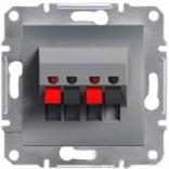 Аудиорозетка Schneider Asfora Plus сталь (EPH5700162)