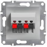 Аудиорозетка Schneider Asfora Plus алюминий (EPH5700161)