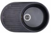 Гранитная мойка Fosto 74x46 SGA-420 (черный)