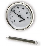 Термометр накладной WattsF+R810TCM (TAB80/120D-80mm0-120°C)