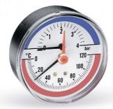 Аксиальный термоманометр Watts F+R818 (TIM 80 0-6Bar 0-120°C)