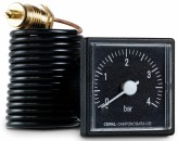 """Манометр с выносным датчиком CewalIQ37P (42х42мм,1/4"""""""",0-6бар,1500мм)"""