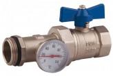 """Кран шаровый с термометром SD Plus 1"""" SD220TW25 (прямой)"""