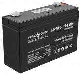 Аккумуляторная батарея LogicPower AGM LPM 6-14 AH