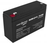 Аккумуляторная батарея LogicPower AGM LP 6-1.3 AH SILVER