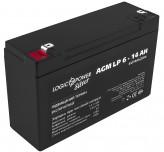 Аккумуляторная батарея LogicPower AGM LP 6-14 AH SILVER