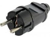 E-Next Бытовая вилка E-Next e.plug.straight.004.16 (черная, прямая)