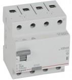 Дифференциальное реле Legrand RX³ 100mA 40А 4п AC (402067)