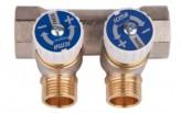 """Водопроводный коллектор под фитинг Icma №228 1""""х24х1,5 выхода 2 (87228PG06RU)"""
