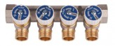 """Водопроводный коллектор под фитинг Icma №228 3/4""""х24х1,5 выхода 4 (87228PC06)"""