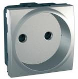 Schneider Electric Розетка (без заземления) шторки Schneider Unica (MGU3.033.30) алюминий