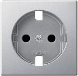 Панель  для розетки SCHUKO Schneider Merten (MTN2331-0460) алюминий