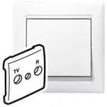 Legrand Лицевая панель для розетки TV-R Legrand Valena 774442 белый