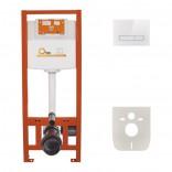 Инсталляция для унитаза 4в1 Q-tap Nest ST ( Клавиша линейная White glass 175х245х4mm)