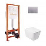 Q-tap Комплект инсталляция Q-tap Nest QTNESTM425M08SAT + унитаз с сиденьем Crow QT05335170W
