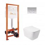 Q-tap Комплект инсталляция Q-tap Nest M425-M11CRM + унитаз с сиденьем Crow WHI 5170
