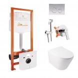 Q-tap Комплект Q-tap инсталляция Nest + унитаз Swan + набор для гигиенического душа Form M425M11CRMQT16335178WFORM001AB